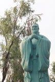 Статуя камня Конфуция Стоковая Фотография
