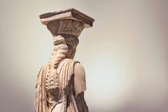 Статуя кариатиды Стоковые Изображения