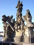 статуя Карла s моста Стоковые Изображения RF