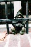статуя карлика на улице в Wroclaw, Польше Стоковые Изображения