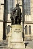 Статуя 1908 Карл Seffner Жоюанн Себастиан Бачю в Лейпциге Стоковые Фотографии RF