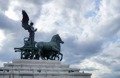 Статуя квадриги Виктории Стоковые Фотографии RF