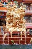 Статуя кобры китайского виска святыни стоковая фотография rf