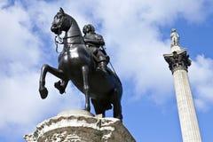 статуя колонки i Нелсон s charles Стоковая Фотография
