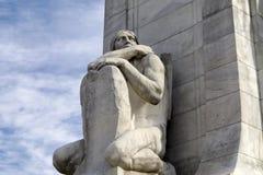Статуя коренного американца стоковые изображения rf