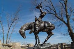 Статуя коренного американца Стоковая Фотография