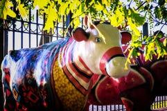 Статуя коровы Стоковые Изображения