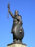статуя короля Альфреда большая Стоковое Изображение