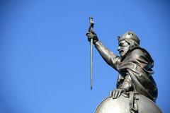 статуя короля Альфреда большая Стоковые Изображения