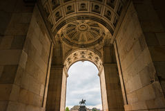 статуя короля Саксонии dresden john стоковое фото rf