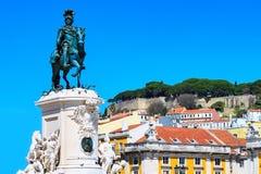 Статуя короля Хосе Я в Лиссабоне, Португалии Стоковое Изображение RF