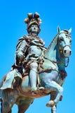 Статуя короля Хосе Я в Лиссабоне, Португалии Стоковые Изображения RF
