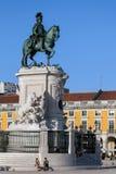 Статуя короля Хосе Я в Лиссабоне Стоковые Изображения RF