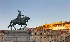 статуя короля joao i стоковое фото rf