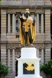 статуя короля kamehameha Гавайских островов honolulu стоковое фото