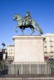 статуя короля madrid charles III Стоковое фото RF