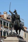 Статуя короля Виктора Emmanuel II в Венеции, Италии Стоковое фото RF