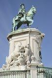 Статуя короля Хосе в Лиссабоне в Португалии Стоковые Изображения