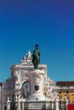 Статуя короля Хосе в Лиссабоне, Португалии Стоковое Изображение