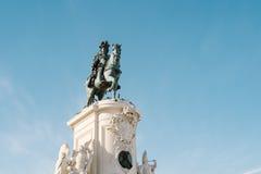 Статуя короля Хосе - Лиссабона, Португалии Стоковое фото RF