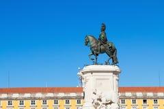 Статуя короля Хосе на квадрате коммерции внутри Стоковое Изображение