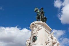 Статуя короля Хосе на квадрате коммерции - Praca делает commercio в Lisb Стоковые Изображения RF