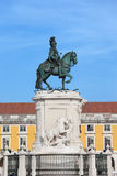 Статуя короля Хосе Я в Лиссабоне Стоковое фото RF