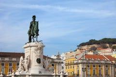 Статуя короля Хосе Я в Лиссабоне Стоковые Фотографии RF