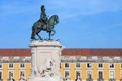 Статуя короля Хосе Я в Лиссабоне Стоковое Фото