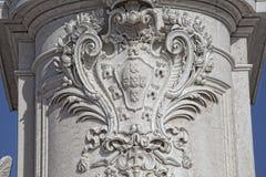Статуя короля Хосе Я на квадрате коммерции Стоковое Изображение