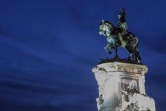 Статуя короля Хосе Я на Praca делает Comercio в Лиссабоне Стоковое Фото