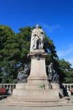 Статуя короля Эдварда VII на улице соединения в Абердине стоковое фото