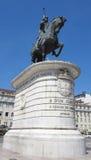 Статуя короля João Я, Лиссабона, Португалии Стоковое Фото