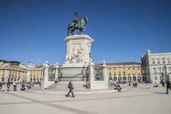 Статуя короля José Я, Лиссабона Стоковые Фотографии RF