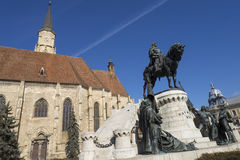 Статуя короля Matthias Стоковая Фотография