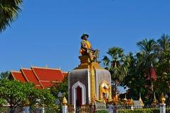 Статуя короля Sethathirath Стоковая Фотография RF