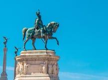 Статуя короля Vittorio Emanuele в Риме Стоковая Фотография