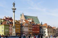 Статуя короля Zygmunt III Waza на старом городе стоковое фото