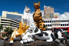 Статуя кота Стоковое Фото