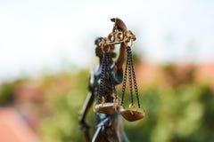 Статуя крупного плана правосудия стоковая фотография rf