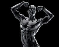Статуя культуриста Стоковая Фотография