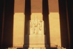 Статуя Линкольна на мемориале Линкольна Стоковая Фотография