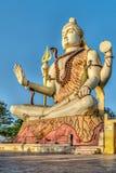 Статуя лорда Shiva, Dwarka, Gujrat, Индия Стоковые Фото