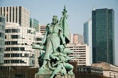 Статуя Луис-Эрнестом Barrias - Квартал обороны Ла стоковое изображение