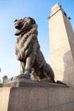 статуя льва Стоковая Фотография