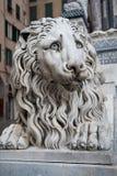 статуя льва genoa стоковое фото rf