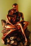 статуя любовников стоковые изображения rf