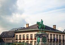 Статуя ЛЮКСЕМБУРГА - 30-ое октября великого князя Вильяма II на месте Guillaume II, город Люксембурга Стоковая Фотография