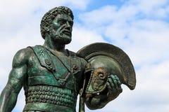 Статуя македонского ратника в скопье, македонии Стоковые Изображения