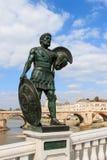 Статуя македонского ратника в скопье Стоковое Изображение RF